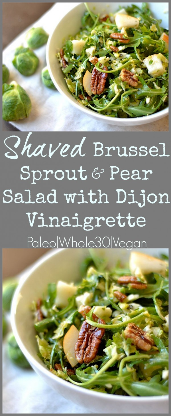 Get the recipe Shaved Brussels Sprout and Pear Salad @recipes_to_go
