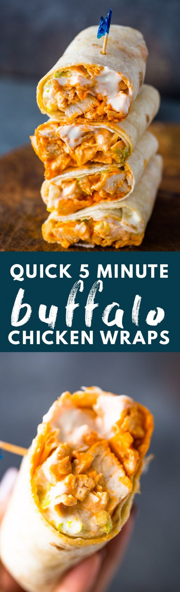 50 Best Chicken Recipes Ever - Check out this recipe for Buffalo chicken wraps. Yummy! #RecipeIdeas @recipes_to_go
