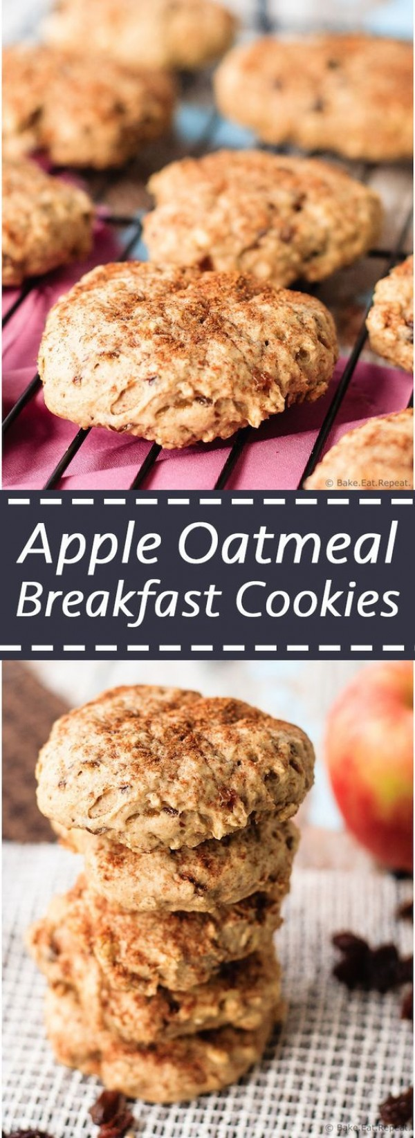 Check out this recipe for breakfast apple oatmeal cookies. Yummy! #RecipeIdeas @recipes_to_go