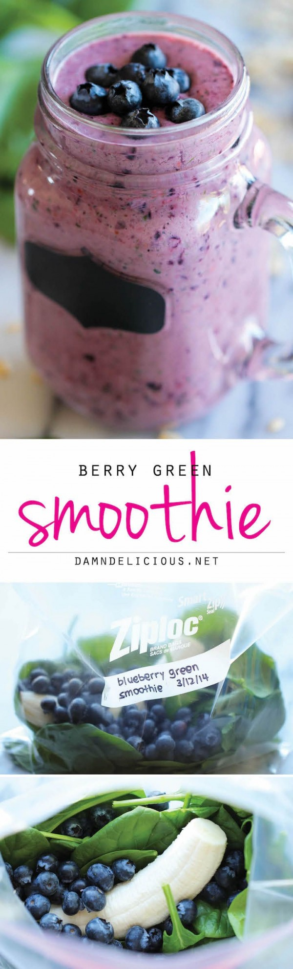 Check out this recipe for breakfast blueberry smoothie. Yummy! #RecipeIdeas @recipes_to_go