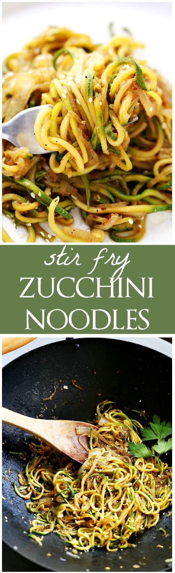 50 Most Delicious and Healthy Vegetarian Recipes - Check out this recipe for stir fry zucchini noodles. Yummy! #RecipeIdeas @recipes_to_go