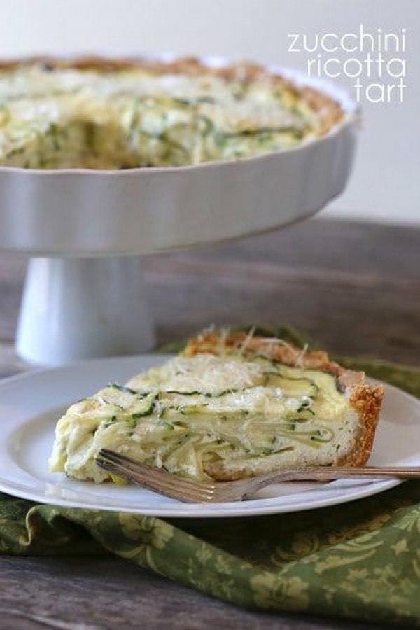 50 Most Delicious and Healthy Vegetarian Recipes - Check out this recipe for zucchini ricotta tart. Yummy! #RecipeIdeas @recipes_to_go
