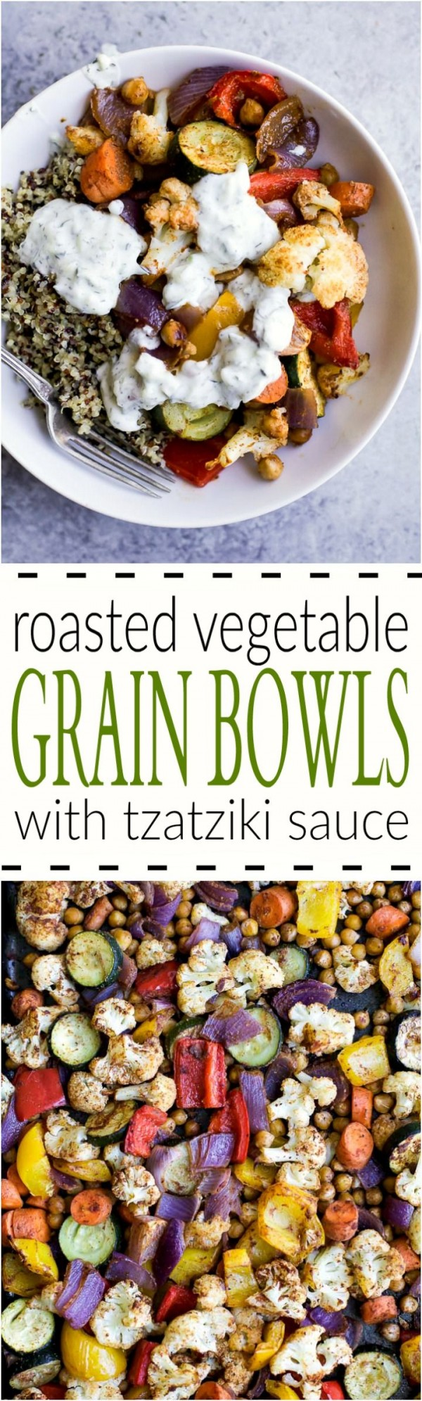 50 Most Delicious and Healthy Vegetarian Recipes - Check out this recipe for roasted vegetable grain bowls. Yummy! #RecipeIdeas @recipes_to_go