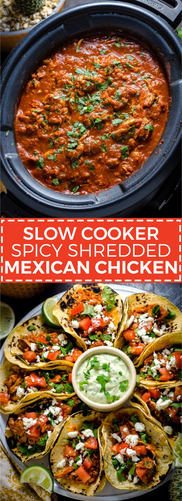 50 Best Chicken Recipes Ever - Check out this recipe for slow cooker spicy shredded Mexican chicken. Yummy! #RecipeIdeas @recipes_to_go