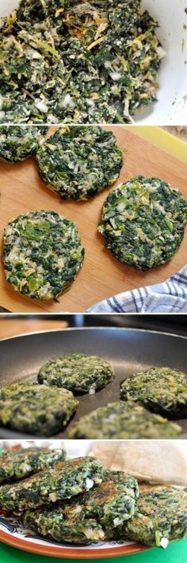50 Most Delicious and Healthy Vegetarian Recipes - Check out this recipe for spinach burgers. Yummy! #RecipeIdeas @recipes_to_go