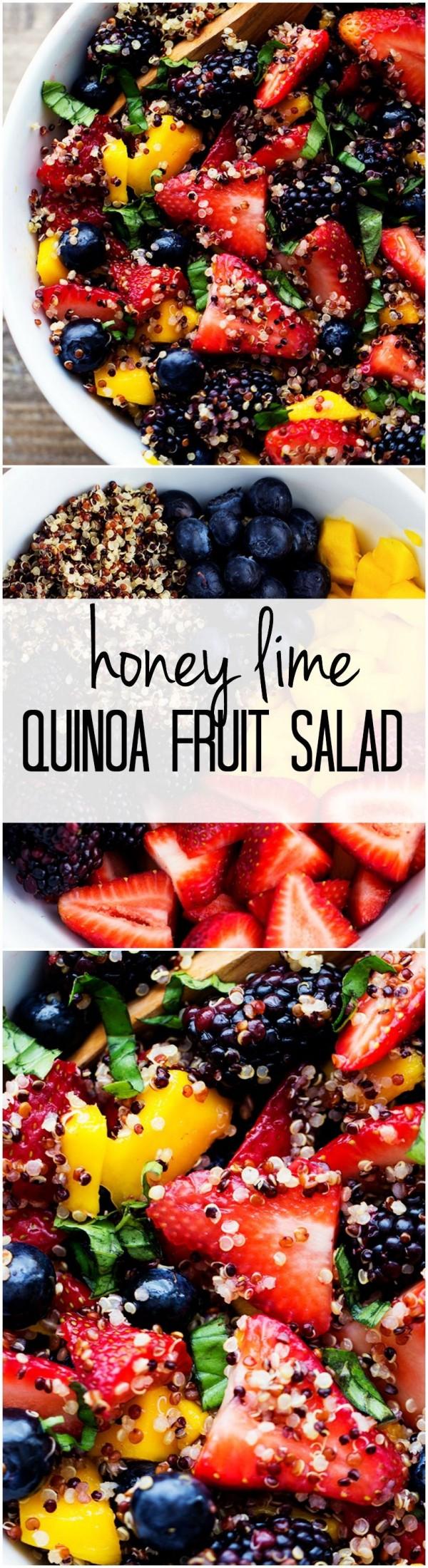 50 Best Healthy Salad Recipes Ever - Check out this recipe for a quinoa fruit salad. Yummy! #RecipeIdeas @recipes_to_go