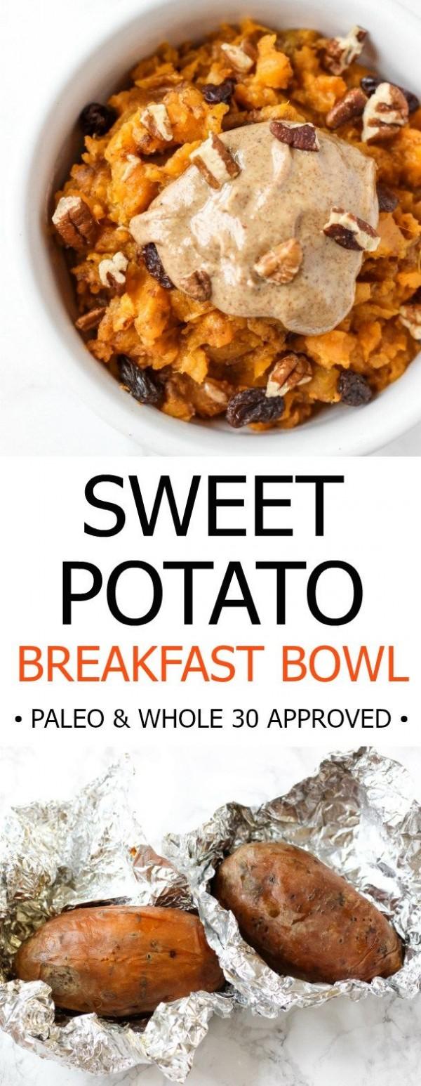 Check out this recipe for breakfast sweet potato bowl. Yummy! #RecipeIdeas @recipes_to_go