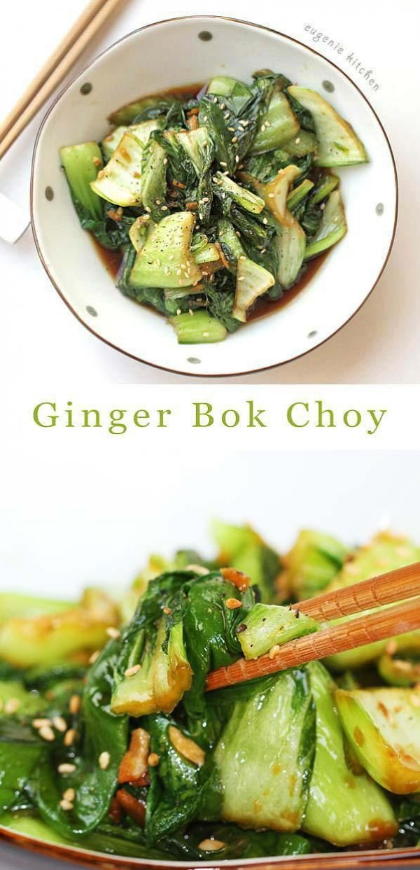 50 Most Delicious and Healthy Vegetarian Recipes - Check out this recipe for sauteed Bok Choy. Yummy! #RecipeIdeas @recipes_to_go