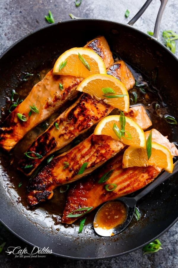 Check out this recipe for crispy honey orange glazed salmon. Yummy! #RecipeIdeas @recipes_to_go