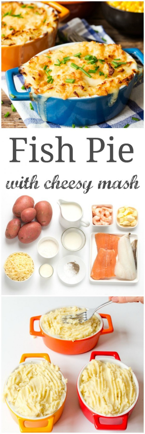 Check out this recipe for fish pie with cheesy mash. Yummy! #RecipeIdeas @recipes_to_go