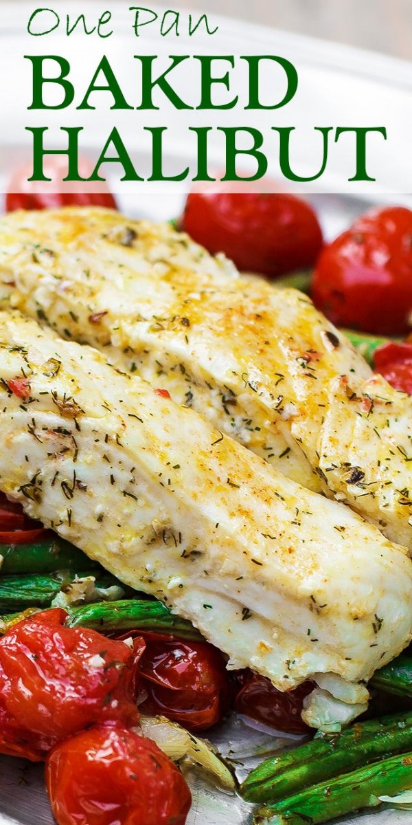 Check out this recipe for one pan baked halibut. Yummy! #RecipeIdeas @recipes_to_go