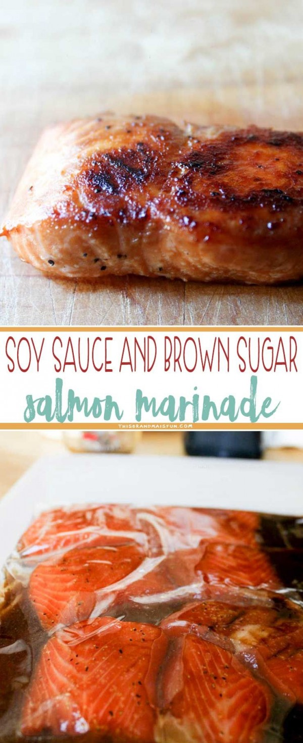 Check out this recipe for soy sauce and brown sugar salmon marinade. Yummy! #RecipeIdeas @recipes_to_go