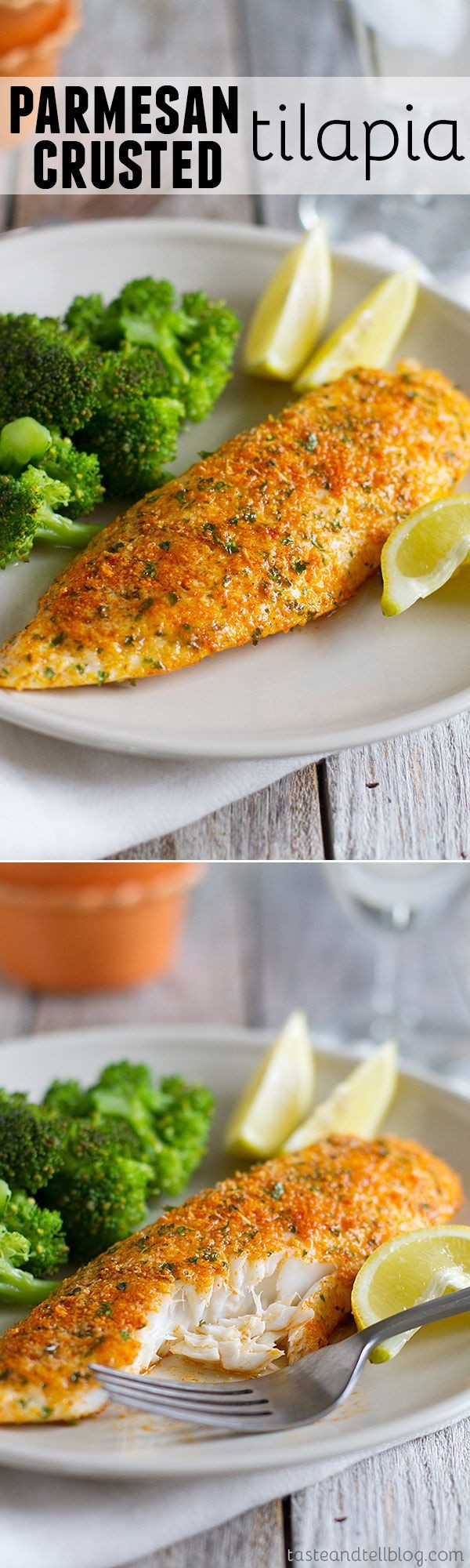 Check out this recipe for Parmesan crusted tilapia. Yummy! #RecipeIdeas @recipes_to_go