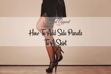 how to add side panels to a skirt