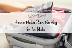how to pack a carry on bag for 2 weeks